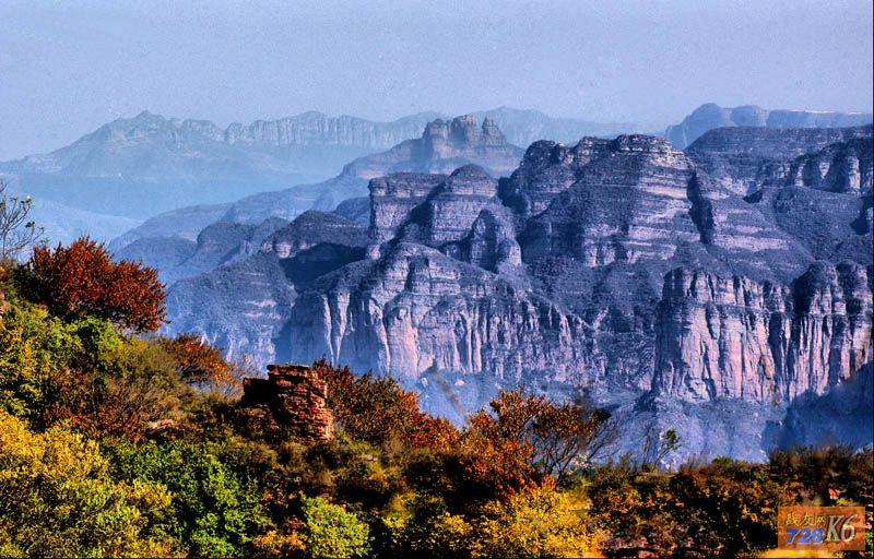 太行山风景图片大图,太行山风景速写图片,太行山色彩风景图片_太行山